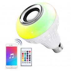 Bluetooth Колонка Лампа с Цветомузыкой и Пультом
